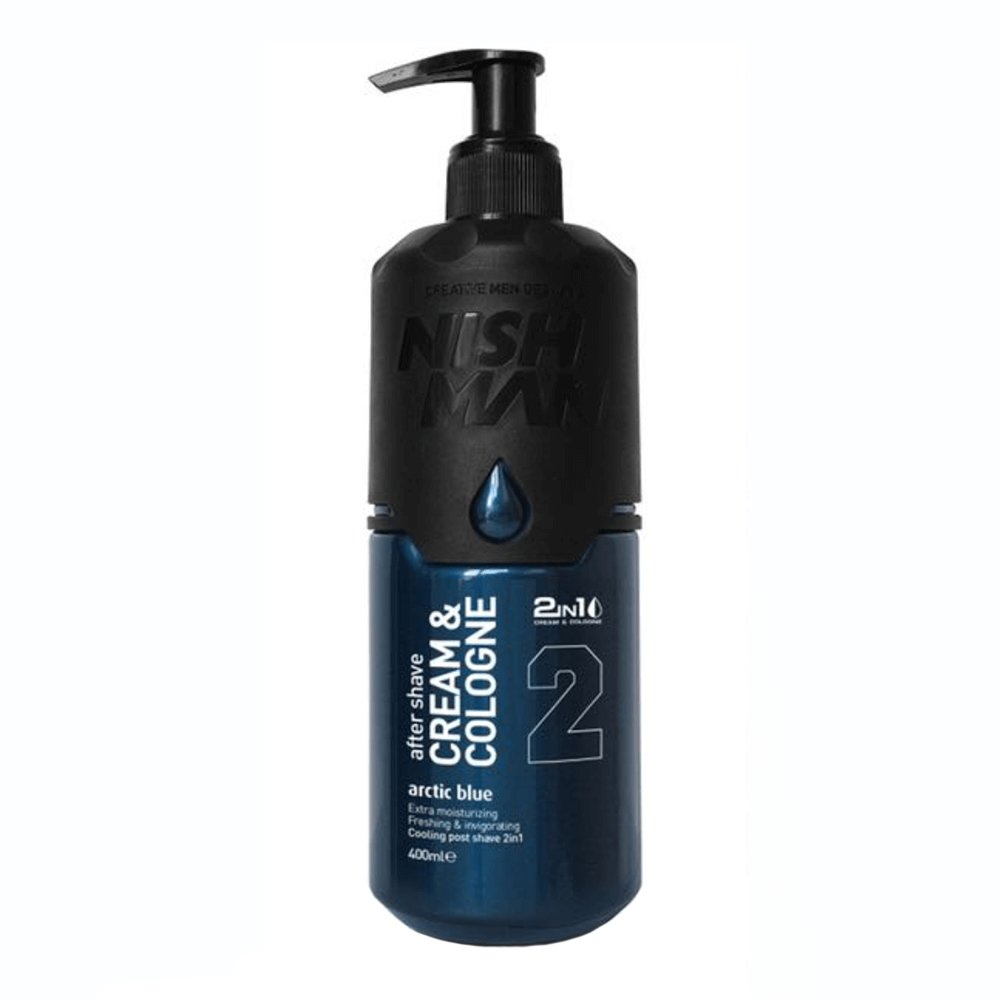 NISHMAN 02 After Shave Cream & Cologne - Arctic Blue 400 ml XL