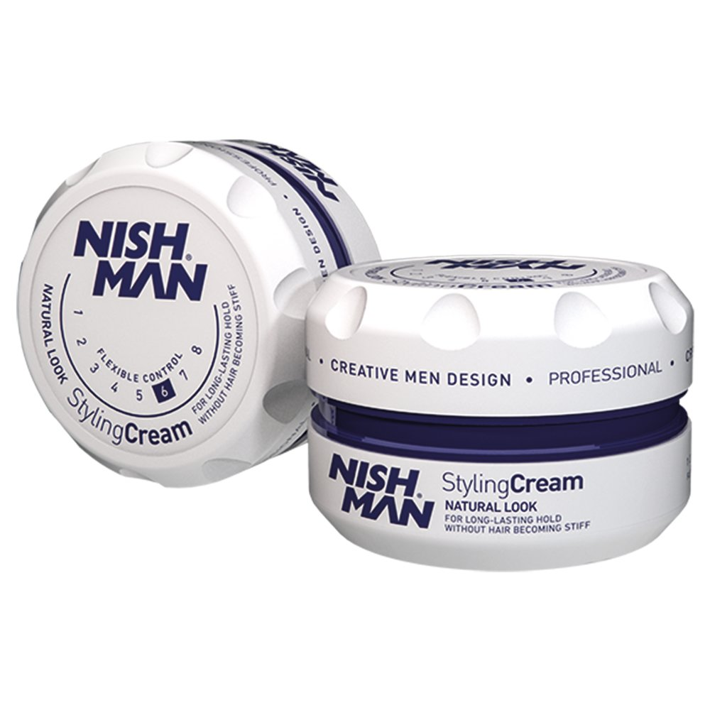 NISHMAN 06 Styling Cream Natural Look - weiß 150 ml XL